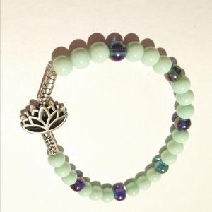 Mint Green Bracelet Glass beads New